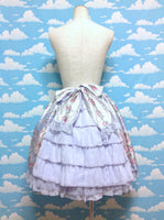 Belle Epoque Rose Skirt in Lavender from Angelic Pretty