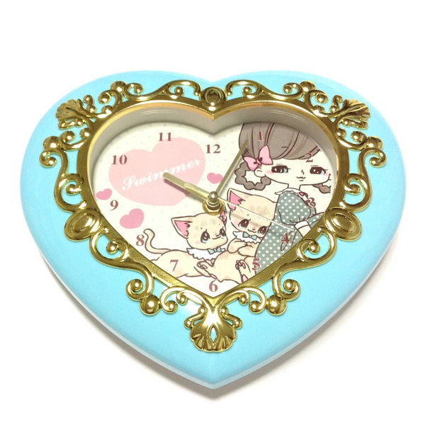 Big Heart Clock in Mint from SWIMMER