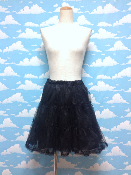 Black Spooky Petticoat in Black