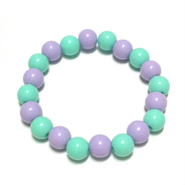 Bubblegum Medium Pearl Bracelet in Turquoise x Lavender from Pastel Skies