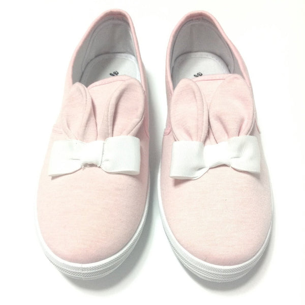 Bunny/Rabbit Ear Sneakers in Pink (M Size)