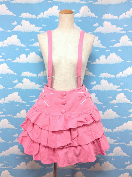 Candy Denim Skirt in Pink from Angelic Pretty