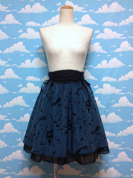 Castle Fairytale (Halloween) Skirt in Navy from Axes Femme