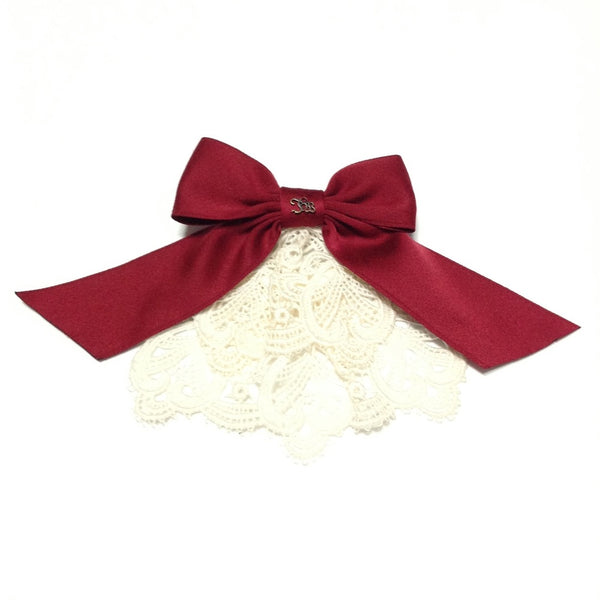 Chemical Lace Ribbon Jabot in Red from Innocent World