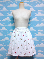 Cherry Ice Cone Skirt in White