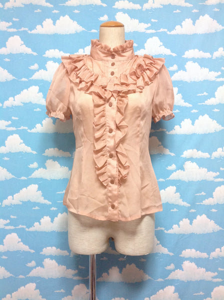 Chiffon Frill Blouse in Pink Beige from Alice and the Pirates