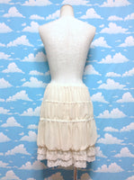 Chiffon Lace Pannier in Ivory from Axes Femme