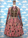 Chocolate Rosette Special OP (One Piece) Set in Raspberry (Pink) from Angelic Pretty