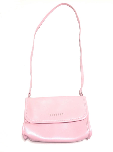 Clear Back Pochette Bag in Pink from Bubbles