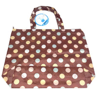 Colored Chocolates Tote Bag in Brown x Pastel