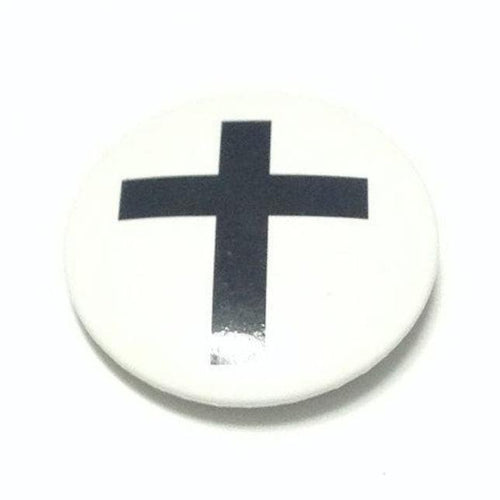 Cross Badge in White x Black