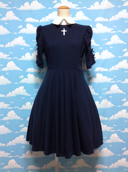 Cross Chest OP (One Piece) in Navy from Ank Rouge