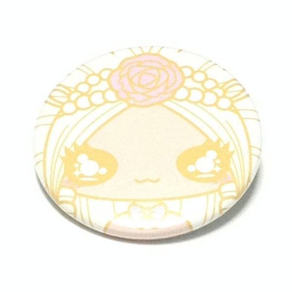 Cute Cartoon Badge (Pearl Rose Girl) in Ivory