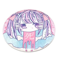 """Death"" Pastel Girl Badge"