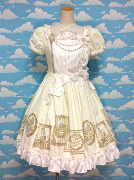 Dessert Collection OP (One Piece) in White x Gold from Angelic Pretty