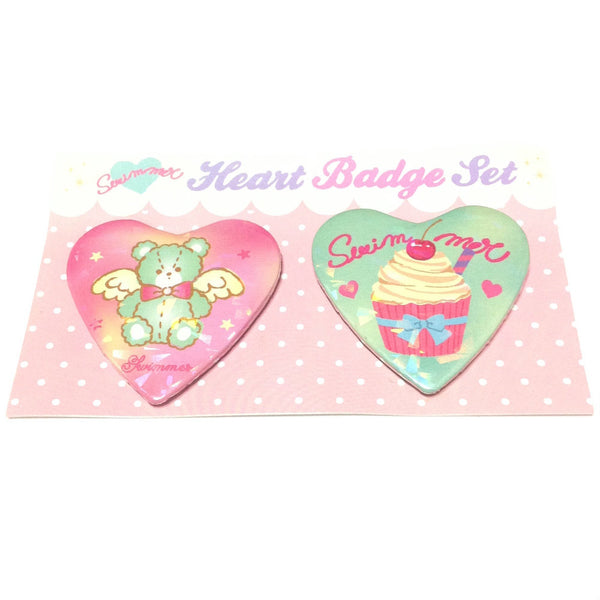 Dreamy Heart Badge Set (Bear) from SWIMMER