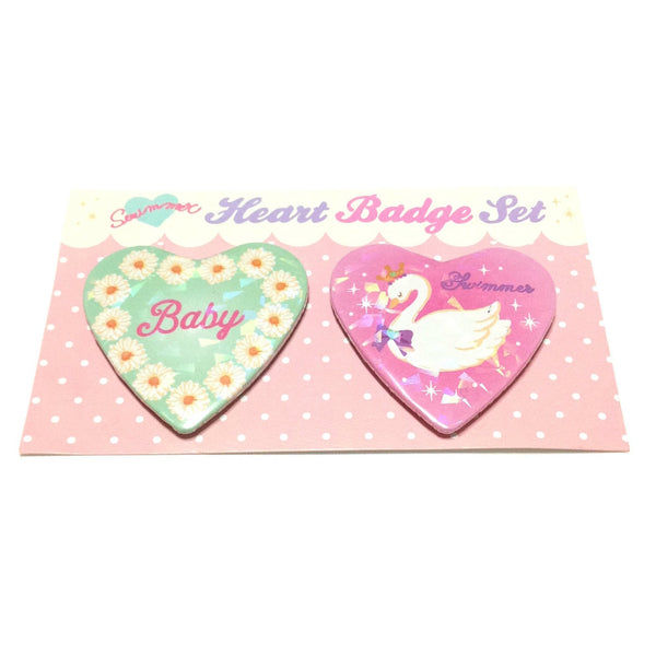 Dreamy Heart Badge Set (Flower) from SWIMMER