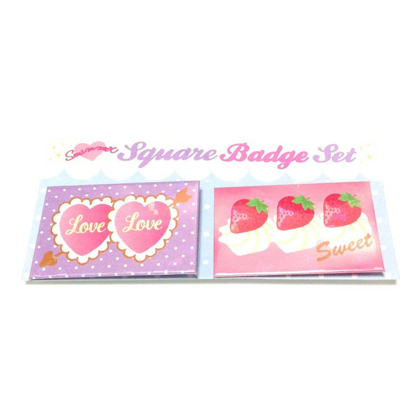 Dreamy Square Badge Set (Heart) from SWIMMER