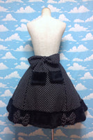Dressing Up Bunny-chan Wool Polka Dot Skirt in Black from Angelic Pretty