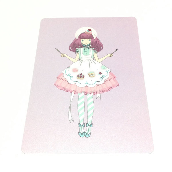 """Eat me"" Girl with Cutlery Postcard from Imai Kira (#PC-27)"