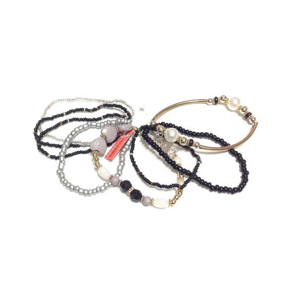 Elegant Bracelet Set in Black x Gold x Silver from Paris Kid's