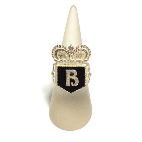 Emblem B-mark Ring in Black from Baby, the Stars Shine Bright