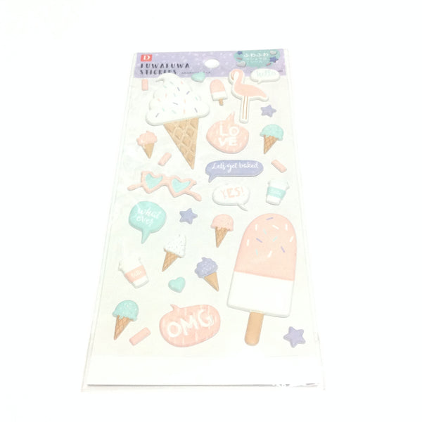 FUWAFUWA Marshmallow 3D Foam Stickers (Ice Cream)