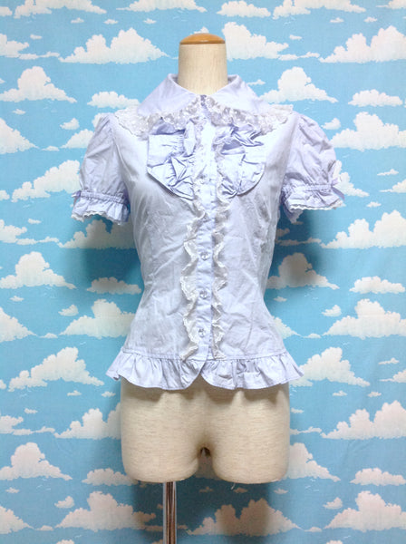 Fancy Frill Blouse in Lavender from Angelic Pretty