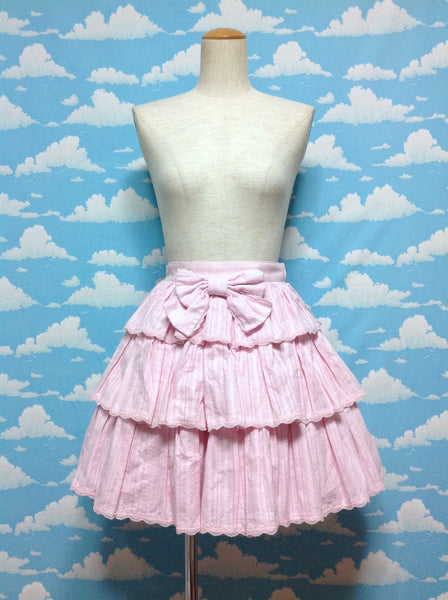 Fancy Karami 3-Stage Ruffle Skirt in Pink from Angelic Pretty