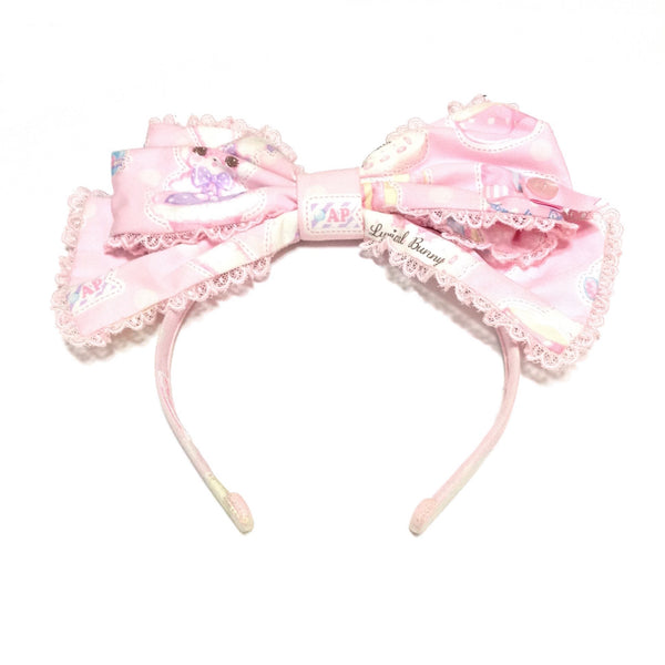 Fancy Paper Dolls Head Bow in Pink from Angelic Pretty