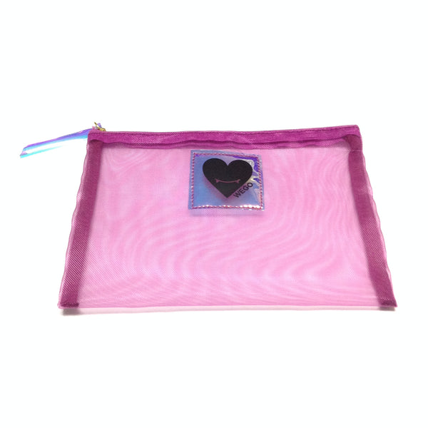 Fangs Heart Net Pouch in Purple from Wego