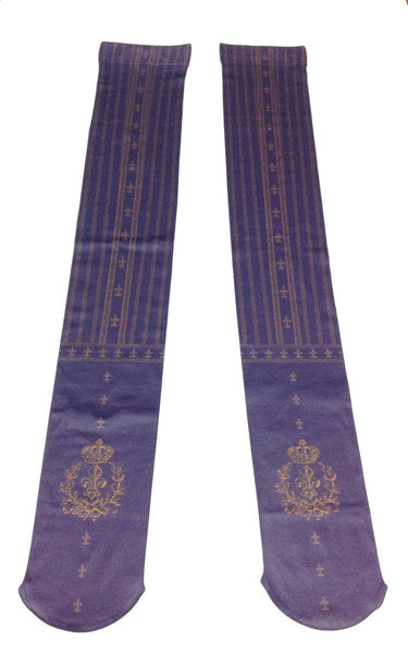 Fleur de Lis Crown OTKs in Navy x Gold