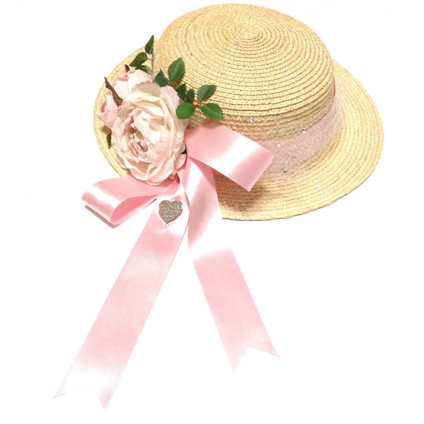 Floral Straw Hat from Triple Fortune