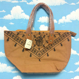 Floral Tote Bag in Brown from Chocoholic
