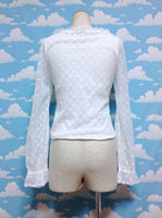 Floret Ribbon Pullover in Offwhite from Baby, the Stars Shine Bright