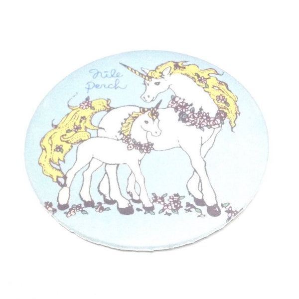 Flowers and Unicorns Badge in Sax from Nile Perch