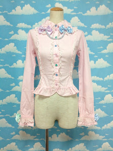 Colorful Necklace Blouse in Pink from Angelic Pretty