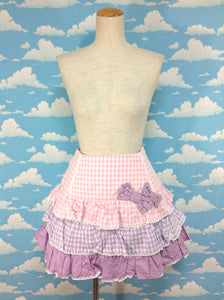 Colorful Gingham Skirt in Pink from Angelic Pretty