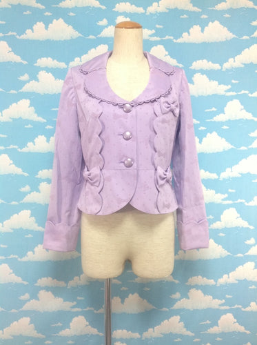 Maiden Ribbon Jacquard Jacket in Lavender from Angelic Pretty (M)