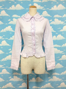 Petit Ribbon Brooch Blouse in Lavender from Angelic Pretty