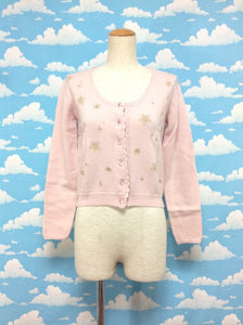 Snowy Crystal Embroidered Cardigan in Pink from Baby, the Stars Shine Bright