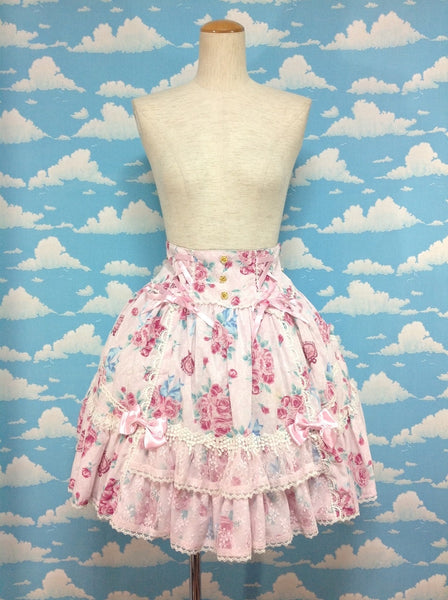 Eternal Rose Bouquet Skirt in Pink from Angelic Pretty