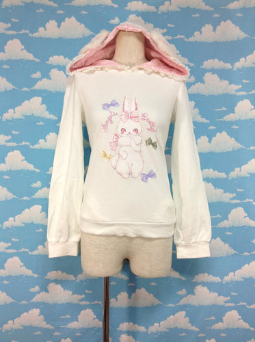 Marshmallow Bunny Parka in White from Angelic Pretty