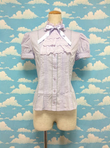 Night Jabot Blouse in Lavender from Angelic Pretty