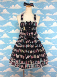 Toy Drops Salopette Set in Black from Angelic Pretty