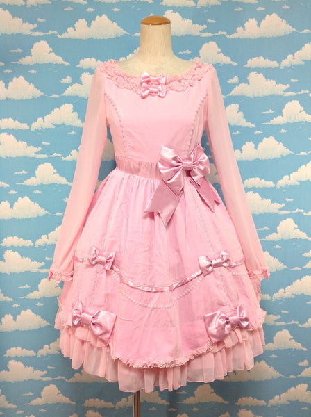 Invited to a Party OP (One Piece) in Pink from Angelic Pretty
