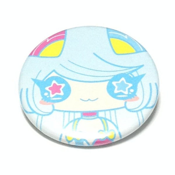 Cute Cartoon Badge (Futuristic Girl) in Sax