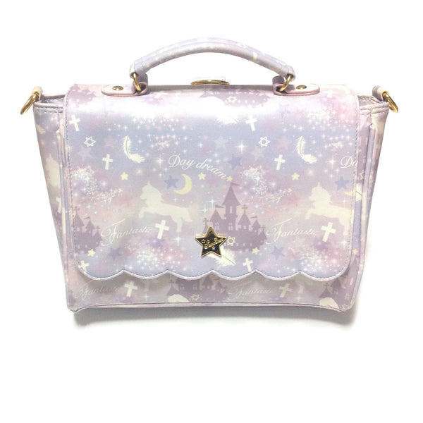 Fuwa Print 2-Way Bag (Unicorn) in Lavender from SWIMMER