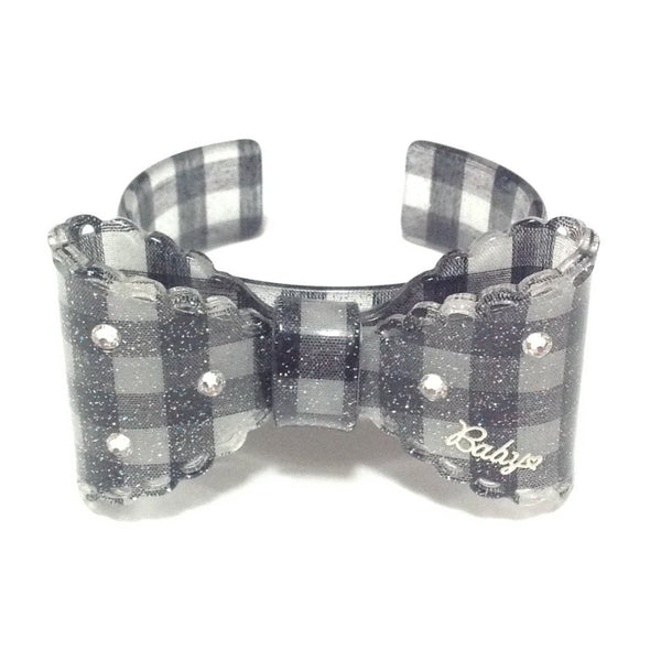 Gingham Ribbon Bracelet in Black from Baby, the Stars Shine Bright