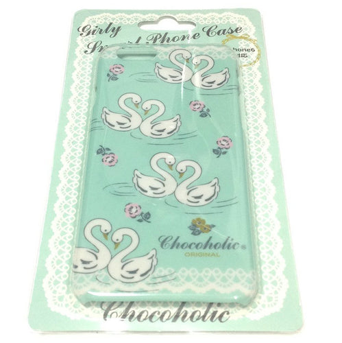 Girly Smart Phone Case (iPhone 6) in Mint (Swan) from Chocoholic